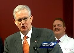 Governor Jay Nixon at a recent press event. - VIA