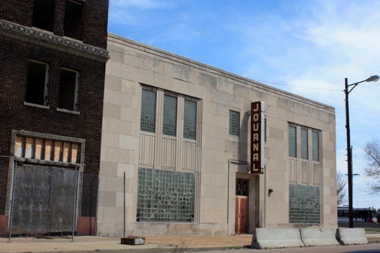 The Journal Building in downtown East St. Louis.   Chris Naffziger