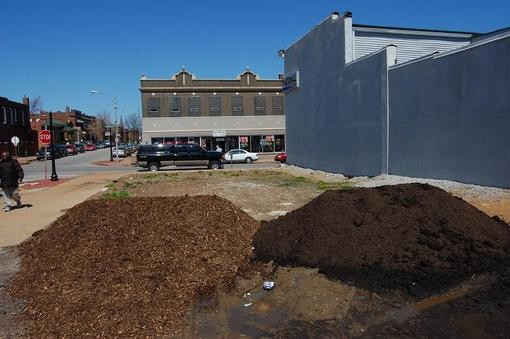 Two piles of wha? at Cherokee and Texas - PHOTO BY NICHOLAS PHILLIPS