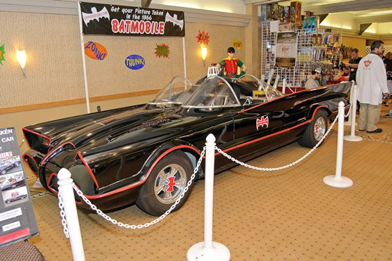 The Batmobile from the '60s TV show starring Adam West at this weekend's Con-tamination.  See a full slideshow from Con-tamination here. - PHOTO: JASON STOFF
