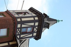 The half-timber construction popular with A-B restaurants.