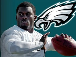 Vick is currently  the backup quarterback in Philadelphia.