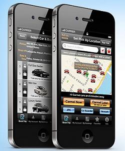 Carmel's smartphone app. - CARMEL