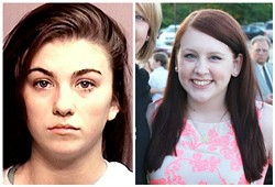 Kaitlyn Booth, left, and Raigan Mastain. - MUGSHOT /COURTESY RAIGAN MASTAIN