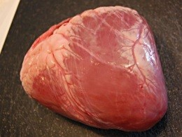 This is beef heart. In Missouri, you'd better call it that. - IMAGE VIA