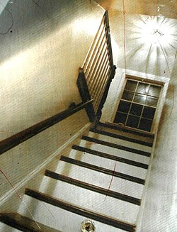 The stairway leading up to the bedroom where the exorcism took place. - PHOTO: JENNIFER SILVERBERG