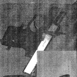 The gun found in a men's bathroom at the Missouri State Capitol. - MISSOURI CAPITOL POLICE