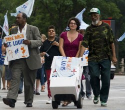 Take Back St. Louis coalition marching yesterday. - COURTESY OF MORE