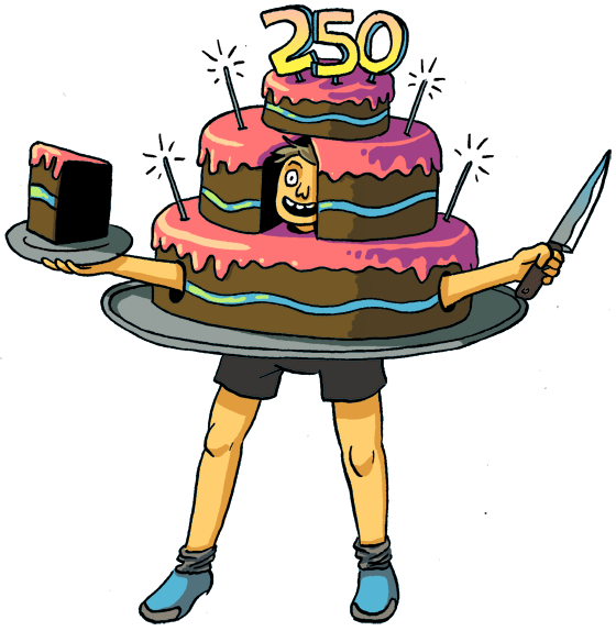 Need a Halloween costume idea? What about one of St. Louis' 250 birthday cakes? - ILLUSTRATIONS BY CURTIS TINSLEY