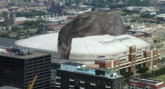 """""""The Dome,"""" complete with Stan Kroenke hairpiece."""