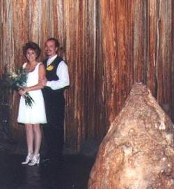 This bride may look frigid. Then again, it's a constant 60 degrees inside Bridal Cave. - BRIDALCAVE.COM