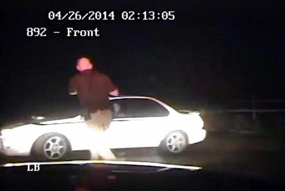 Authorities in Kentucky released a dash cam video last April for what they argued was the justifiable shooting of nineteen-year-old driver. - IMAGE VIA