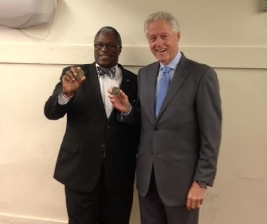 Kansas City Mayor Sly James with Bill Clinton. - VIA MAYOR SLY JAMES FACEBOOK
