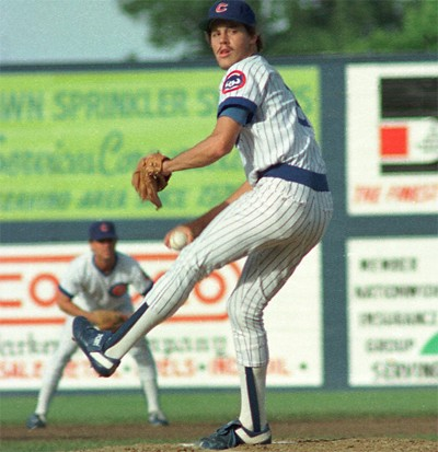 Maddux with the Iowa Cubs in 1987.