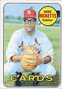 Dave Ricketts in '69. I know what you're thinking. Obviously the guy eventually was able to live this down. Just ask Yadi Molina.