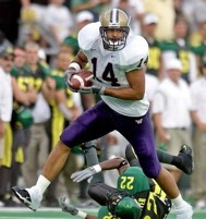 Jerramy Stevens as a Husky and second-team All-American.
