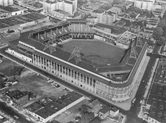 Ebbets Field, perhaps the most revered baseball stadium in the game's history, and home of the Brooklyn Dodgers.