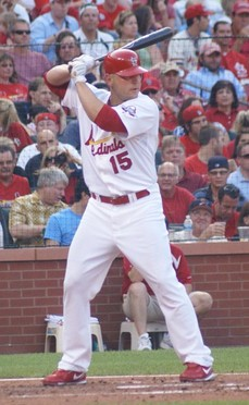 Matt Holliday and a bottle of wine pair nicely in a weekend event. - COMMONS.WIKIMEDIA.ORG