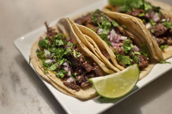 Beef-cheek tacos at MEDIAnoche - CRYSTAL ROLFE