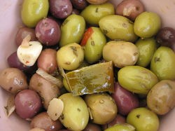 Here are some olives. - IMAGE VIA