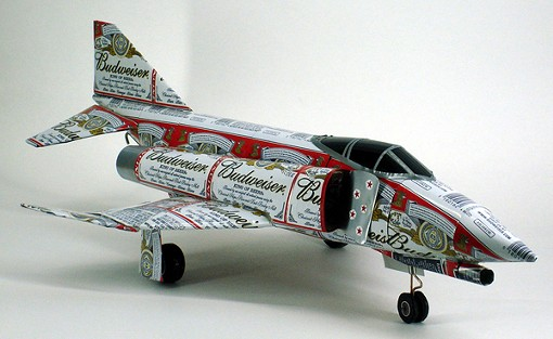 A combination of one's love for fighter jets, and...the King of Beers!