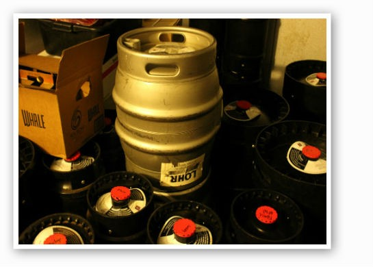 Kegs and firkins galore, all ready for consumption. | Zach Garrison