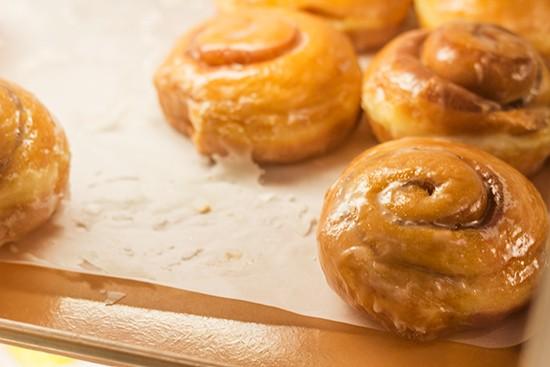 Cinnamon roll doughnuts at Pharaoh's Donuts. | Mabel Suen
