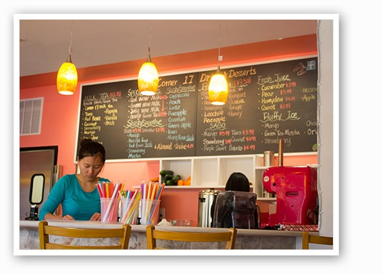 Co-owner Guang Zhao behind the counter. | Mabel Suen