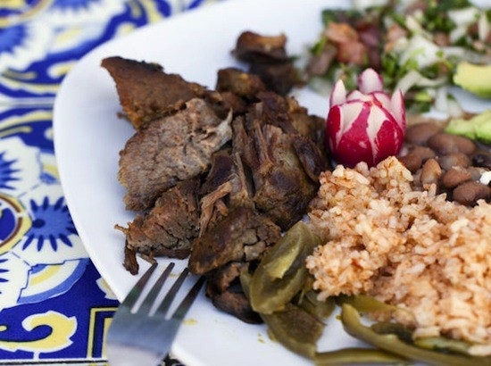 A plate of the Guanajuato-style carnitas at Siete Luminarias | Jennifer Silverberg