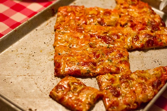 The St. Louis-style pie at Monte Bello. | Mabel Suen