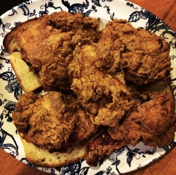Fried chicken at Juniper. | Instagram