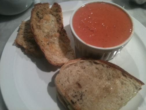 A proper tomato soup and grilled cheese lunch for a rainy day. - ROBIN WHEELER