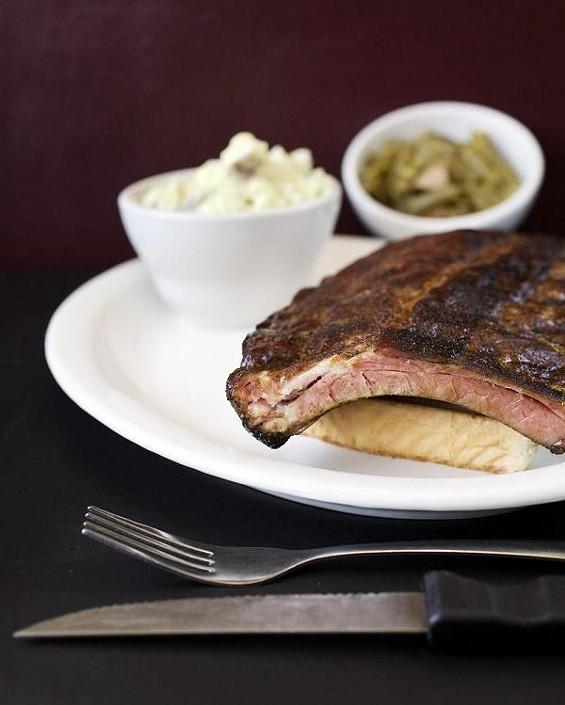 The ribs at Flavors BBQ Sports Bar & Grill - JENNIFER SILVERBERG