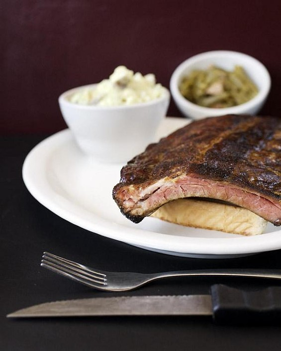 The ribs at Flavors BBQ Sports Bar & Grill - JENNIFER SILVERBERG
