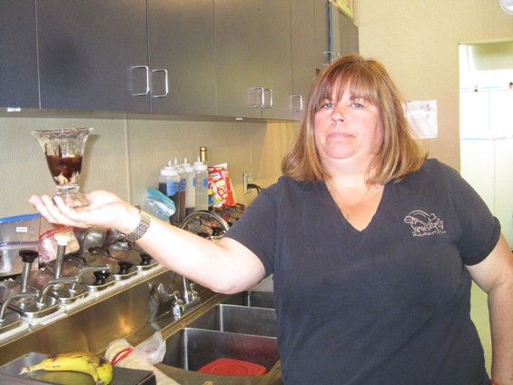 Beckie Jacobs, owner of Serendipity Homemade Ice Cream - ROBIN WHEELER