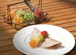 "The ""Top Your Own Taco"" breakfast on Hyatt's ""For Kids, By Kids"" menu. - IMAGE VIA"