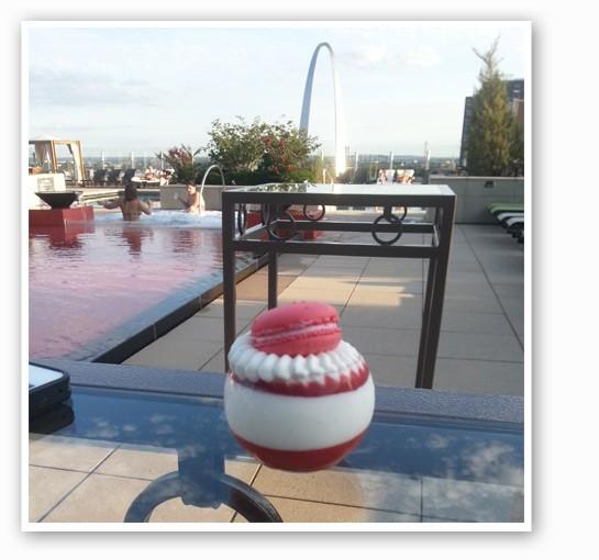 Macarons taste better when overlooking the Arch. | Nancy Stiles
