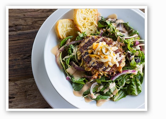 Potato cake salad. | Mabel Suen