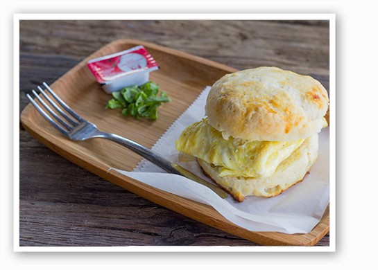 Scratch-made breakfast biscuit. | Mabel Suen