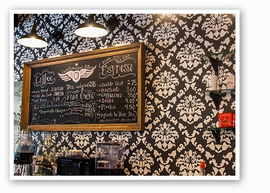 Coffee and drink options. | Mabel Suen