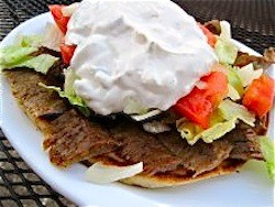 The gyro at Gyro House - SARAH BARABA