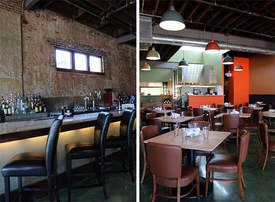 The bar and dining room at Tavolo V. - MABEL SUEN