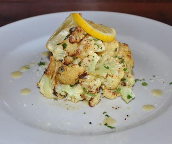 The cauliflower appetizer at Tavolo V. - TARA MAHADEVAN