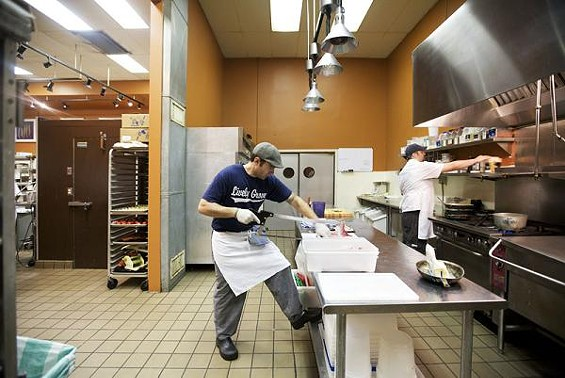 Monarch executive chef Josh Galliano works in the restaurant's kitchen. - JENNIFER SILVERBERG