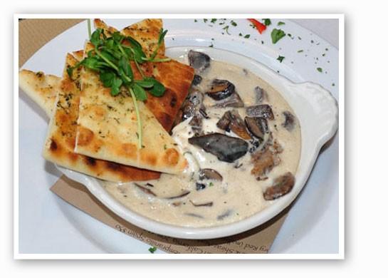 Wild-mushroom goat cheese at SqWires Restaurant.   Tara Mahadevan