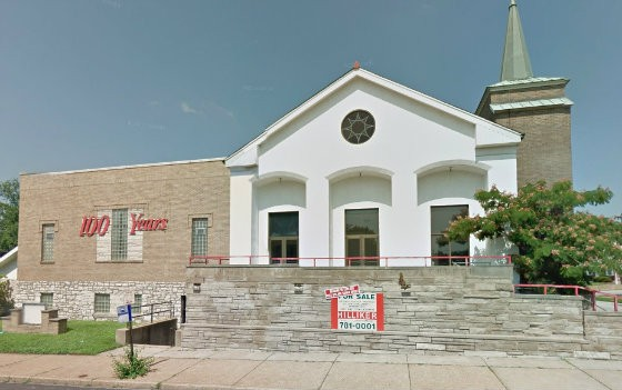 This old church is now home to Dojo Pizza. | Google Street View
