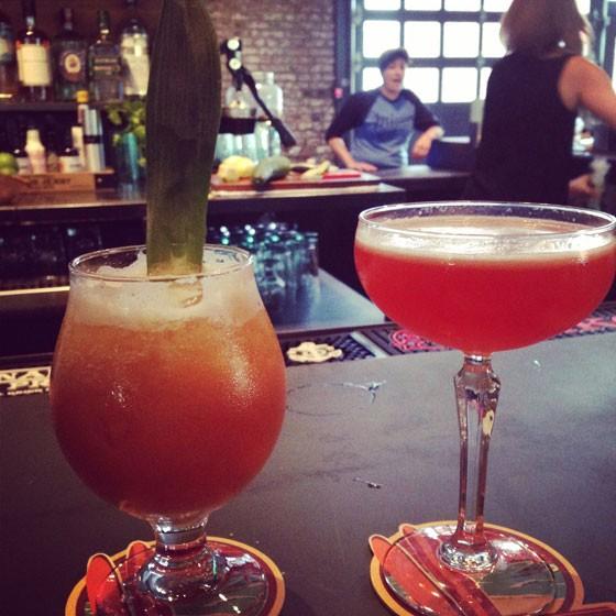 A Hurricane and a Strawberry Daiquiri. | Nancy Stiles