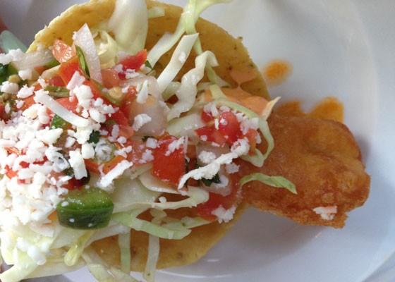 A fried Baja fish taco. | Nancy Stiles