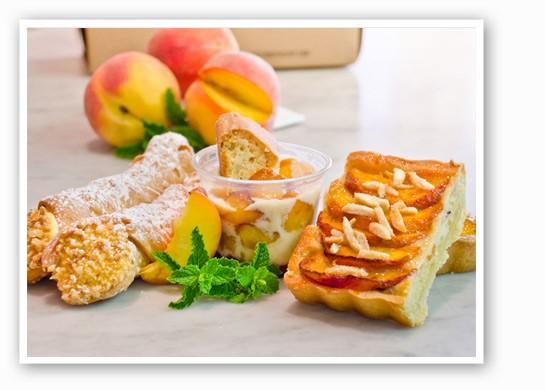 Peach desserts at Piccione Pastry. | Piccione Pastry