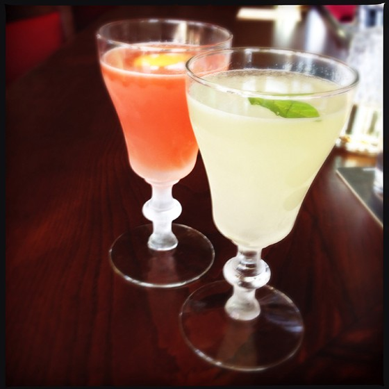 """Bird of a Feather"" and the ""Basil in Brasil"" daiquiris. 